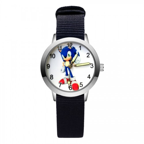 Fashion cute hedgehog style kids watches student girls boys quartz nylon strap wrist watch