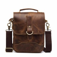 Original leather design male casual shoulder messenger bag fashion