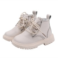 Casual kids leather martins boots kids girls boys lace shoes